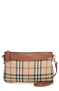 Burberry Small House Check and Leather Crossbody Bag  bb611662bbd33
