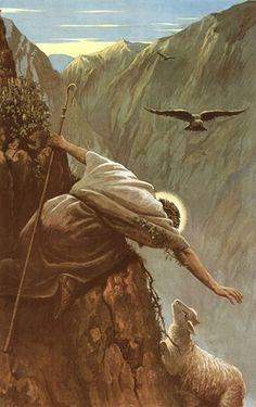The Good Shepherd seeking the lost