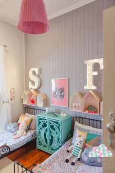 House shaped shelves for kids Bee and Bambi