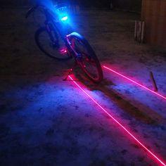 Luces de Bicicleta Nueva Prueba de Agua Luz de La Bicicleta 5LED 2 Laser Ciclismo Luz Trasera Tiene 7 Modo de Flash En La Noche Caja de Seguridad de la Bicicleta Accesorios