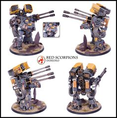 Red Scorpions Relic Deredeo Dreadnought | by Relaxdesign Minis