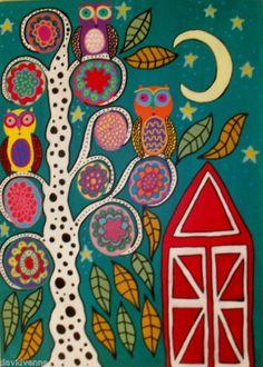 love folk art owls