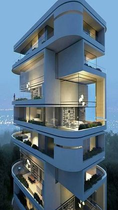 Modern Architecture Building Apartments 38