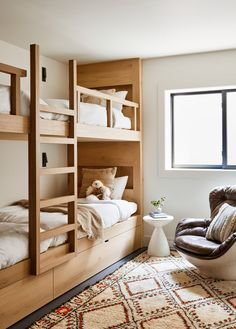 Dream Home Design, House Design, Interior Exterior, Interior Design, Custom Bunk Beds, Bunk Beds Built In, Kids Room Paint, White Walls, Home And Living