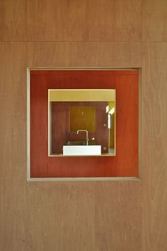 Image 10 of 15 from gallery of CLW / Komada Architects' Office. Courtesy of Komada Architects' Office Japanese Buildings, Japanese Architecture, Interior Architecture, Interior Design, My Coffee Shop, Inside Outside, Modern Contemporary, Wall Lights, Mirror