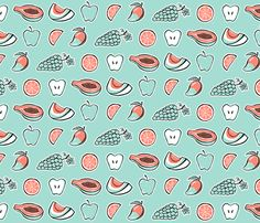 Juicy (Mint) fabric by strangecharmdesign on Spoonflower - custom fabric