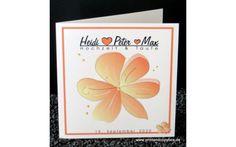 """Einladung Hochzeit & Taufe """"Blütenzauber"""" apricot Invites Wedding, Creative"""