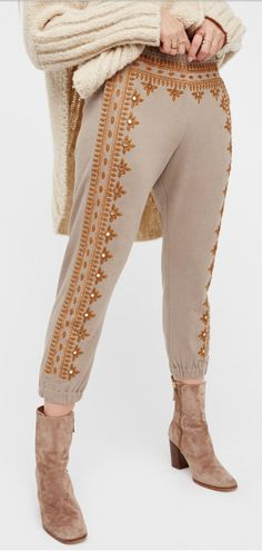 Free People FP One Three Wishes Sweatpants Harem Pants, Trousers, Comfortable Outfits, Wish, Free People, Capri Pants, Sweatpants, Style Inspiration, Boots