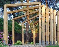 Drewniana Altana bez dachu - zdjęcie od KingaBerowska Outside World, Pergola, Outdoor Structures, Texture, Wood, Garden, Crafts, Arbors, Fences