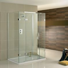 Aquadart Inline 3 Sided Shower Enclosure Hinged Door