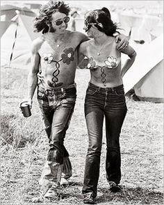 Kunstdrucke. Hippies - Isle Of Wight Pop Festival, 1969