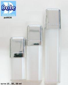 pu0026 ขวดปั้มเหลี่ยม อะคริลิค 15 30 50 ml