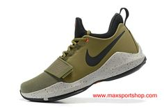 Nike PG 1 Army Green Black Dots Basketball Shoes For Men
