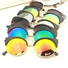 Nuevo 2015 Tendencia Aleación Del Ojo de Gato gafas de Sol Mujeres Diseñador de…
