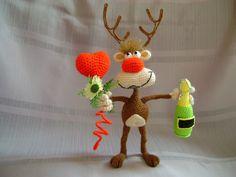 Project by Nati0703. Reindeer crochet pattern by Borisenko for LittleOwlsHut. #LittleOwlsHut, #Amigurumi, #CrohetPattern, #Crochet, #Crocheted,# Santa &Reindeers #Borisenko, #DIY, #Craft, #Pattern