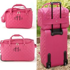 Where will you go this year?   initials inc luggage as seen on Bridal Guide blog post