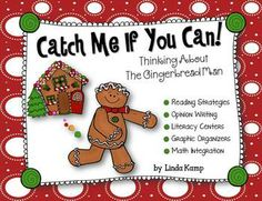 Loads of activities for comparing and analyzing favorite versions of The Gingerbread Man.  Includes a gingerbread house folder craft to  keep your kids organized.