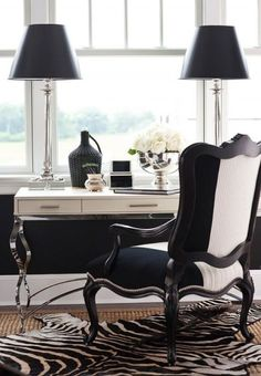 create an opulent home office with a luxurious chair ornamental desk and elegant light fitting beautiful home office view
