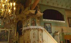 Dolní Marklovice, nástěnné malby, strop s řadami drobných kvítků.