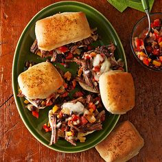 Spicy Cuban Flank Steak Sandwiches | More make-ahead recipes: http://www.bhg.com/recipes/healthy/dinner/healthy-make-ahead-dinner-recipes/ #myplate