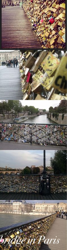 This is a bridge in Paris. You hang locks on it with the name of you & your boyfriend/girlfriend/best-friend then throw the key into the river.