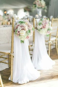 Bride and groom chairs. Wedding Chair Decorations, Wedding Chairs, Wedding Seating, Decoration Table, Flower Decoration, Mod Wedding, Dream Wedding, Wedding Scene, Rustic Wedding