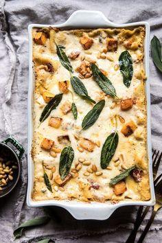 Easy Vegetarian Lasagna, Autumn Recipes Vegetarian, Vegetarian Thanksgiving, Thanksgiving Recipes, Fall Recipes, Dinner Recipes, Vegetarian Italian, Vegetarian Dinners, Yummy Recipes