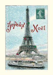 Glitter Greetings Joyeux Noel Boxed Notes
