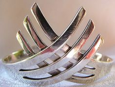 Los Ballesteros sterling cuff bracelet TAXCO by cherrylippedroses, $215.00