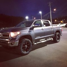 "2015 Toyota Tundra 35"" nitto terra grapplers 20"" fuel hostage wheels 3"" lift"