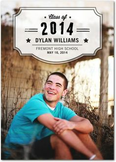 Stellar Grad - #Graduation Announcements - Southern Living Magazine #grad