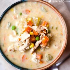 Slow cooker crustless pot pie soup-- I doubled the recipe-- didn't do the pearl onions, added 3x the amount of frozen veg and just used the mix.  I also added 1 can of white kidney beans when blending the soup to thicken (maybe 1.5 or 2 cans next time!)