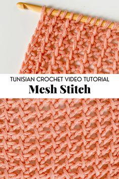 Picot Crochet, Tunisian Crochet Patterns, Easy Knitting Patterns, Easy Crochet, Stitch Patterns, Tunisian Crochet Blanket, Free Crochet, Crochet Crafts, Yarn Crafts