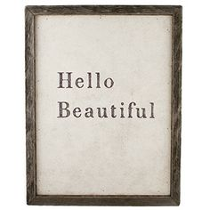 Hello Beautiful by Sugarboo Designs - Reproduction of Rebecca Puig's original art, framed in vintage recycled wood.