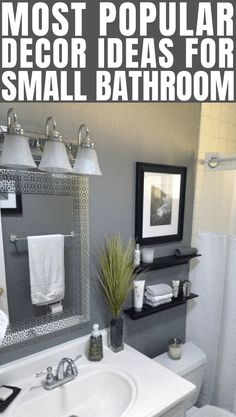 If you are looking for Small Bathroom Decor Ideas, You come to the right place. Below are the Small Bathroom Decor Ideas. This post about Small Bathroom Decor Ideas was posted under the Bathroom Inspiration category Bathroom Wall Colors, Gray Bathroom Decor, Bathroom Ideas, Bathroom Organization, Bathroom Inspiration, Bathroom Canvas, White Bathroom, Bathroom Storage, Organization Ideas
