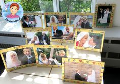 Kleuters maken een gouden lijst voor hun bruidsfoto 3, kleuteridee.nl, thema fotograaf, Kindergarten Photgrapher theme. Be My Valentine, Multimedia, Theater, Polaroid Film, Frame, Projects, Mardi Gras, Pictures, Art
