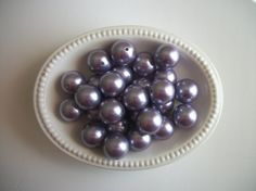 10ct 20mm purple faux pearl acrylic chunky by TheBeadSupplyShoppe, $2.99