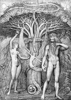 Ernst Fuchs, Adam and Eve under the Tree of Knowledge