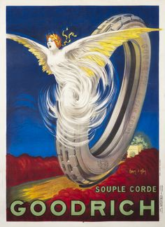 Goodrich Souple Corde by Jean d'Ylen Vintage Labels, Vintage Ads, Vintage Prints, Vintage Posters, Art Deco Posters, Cool Posters, Travel Posters, Winged Victory Of Samothrace, Colors And Emotions