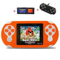 Game Consoles CoolBaby RS-10 Built 200 Games +30IN 1 8BIT Children's Handheld Game Consoles Card Games Support External handles