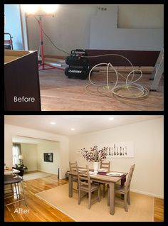 Before and After - Dining Room Real Estate Photography, Beautiful Space, Staging, Dining Room, Inspiration, Accessories, Home, Decor, Role Play