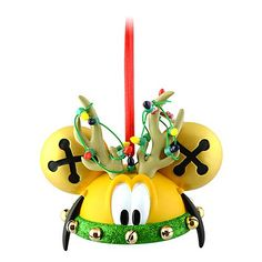 Disney Ears Ornament - Pluto the Red Nose Reindeer