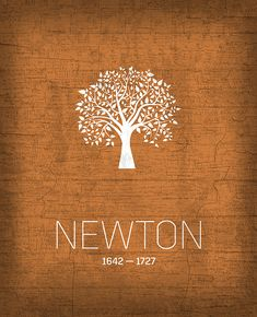 The Inventors Series 010 Newton. A growing series of minimalistic designs celebrating the men and women of science and discovery who have shaped our world.