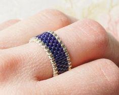 Seed Bead Jewelry, Beaded Jewelry, Beaded Bracelets, Diy Beaded Rings, Casual Rings, Bead Embroidery Jewelry, Wide Band Rings, Ankle Bracelets, Bracelets