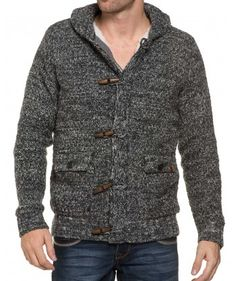 Gilet fourré grosse maille // http://blzjeans.com/gilet-homme/20269-gilet-fourre-grosse-maille-gris-blend-of-america.html