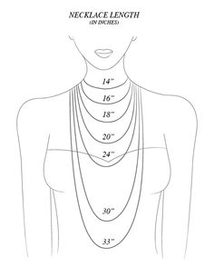 necklace chain length guide | My Style | Pinterest | Necklace ...