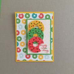 MidnightCrafting Doughnut Day Cherry on Top Stampin Up Endless Birthday Wishes Delightful Dijon Watermelon Wonder Cucumber Crush