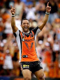 Benji Marshall #Winning Australian Rugby League, Australian Football, Wests Tigers, Athletes, Tennis, Soccer, Collage, Gym, Futbol