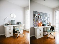 desk makeover. how to make your own IRL pin board for inspiration