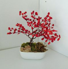 red Coral by sandrinasartistry on Etsy